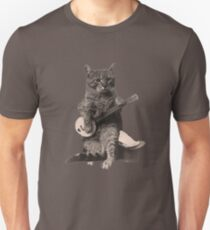 Cat Playing Banjo Guitar T-Shirt