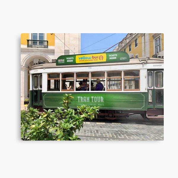 Green Tram Of Portugal Metal Print