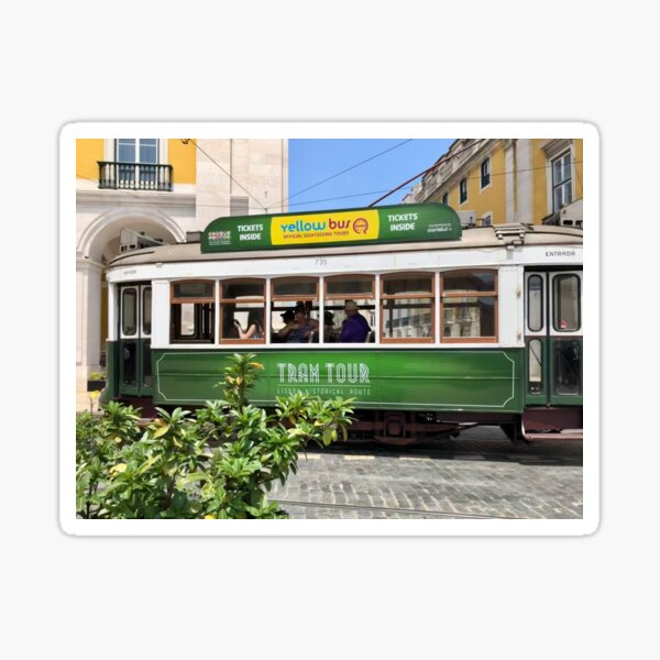 Green Tram Of Portugal Sticker