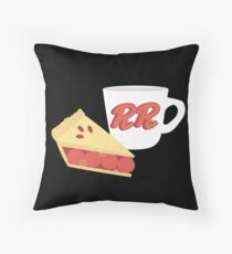 Twin Peaks Cherry Pie and Coffee Throw Pillow