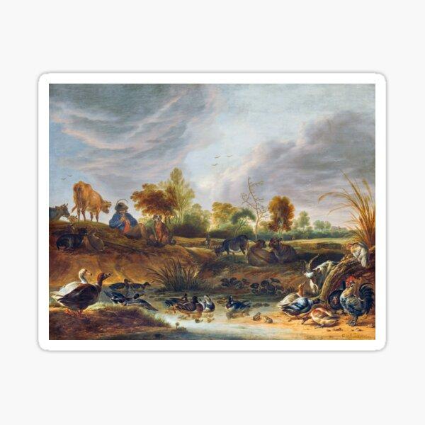 Landscape with animals Sticker