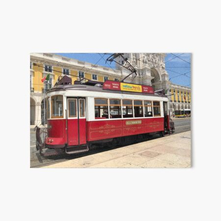 Red Tram Of Portugal Art Board Print