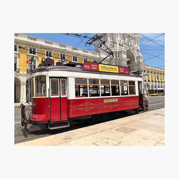 Red Tram Of Portugal Photographic Print