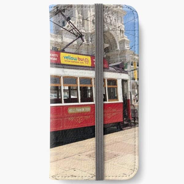 Red Tram Of Portugal iPhone Wallet