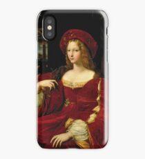 Vintage famous art - Giulio Romano - Portrait Of Jeanne Of Aragon  iPhone Case/Skin