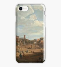 Vintage famous art - Giovanni Paolo Panini - View Of Rome iPhone Case/Skin
