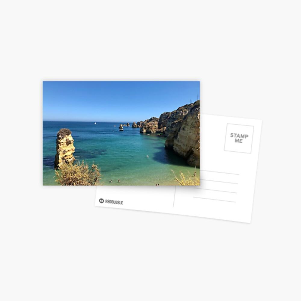 Mediterranean Rocks Postcard