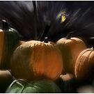 A Rush of Painted Pumpkins  by Wayne King