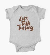 """""""Let's Talk Turkey"""" Thanksgiving Dinner Business Meeting Lettering Kids Clothes"""