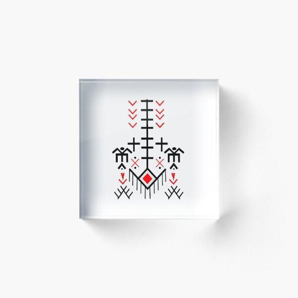 motif kabyle Bloc acrylique