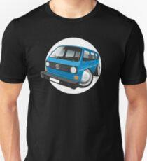 VW T3 bus caricature blue T-Shirt
