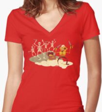 Pirate Cove Women's Fitted V-Neck T-Shirt