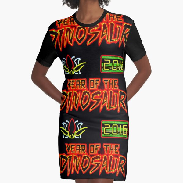 Vivid 2016 Year of the Dinosaur Graphic T-Shirt Dress