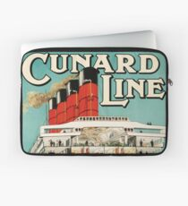 Cunard Line - To all parts of the world Vintage Travel Poster Laptop Sleeve