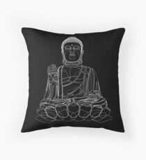 Buddha Illustration Throw Pillow