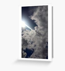 Flying Through Clouds Greeting Card