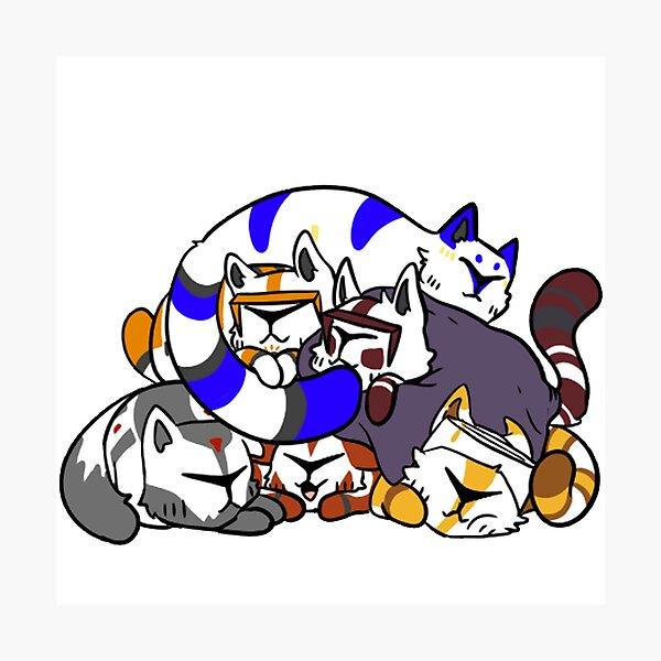 Clone Cat Cuddles Photographic Print