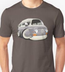 VW T2 bus caricature grey T-Shirt