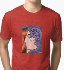 Who Let The Dogs Out? Ginger Girl Tri-blend T-Shirt