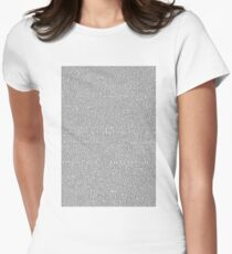 Shrek Script Women's Fitted T-Shirt