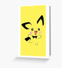 Pichu Minimal (Pokemon) Greeting Card