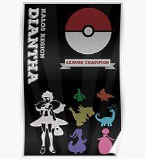 Dianthia Champion Poster (Pokemon) Poster