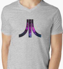 A retro Atari symbol with a cosmic twist Men's V-Neck T-Shirt