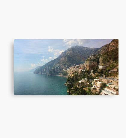 Village of Positano - Amalfi Coast Canvas Print