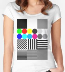 Extreme tone test pattern with colour Women's Fitted Scoop T-Shirt