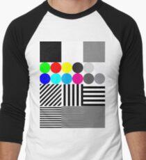 Extremes Tontestmuster mit Farbe Baseballshirt für Männer