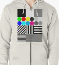 Extreme tone test pattern with colour Zipped Hoodie