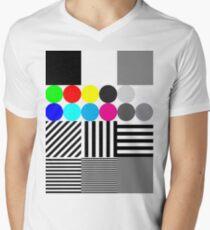 Extreme tone test pattern with colour Men's V-Neck T-Shirt