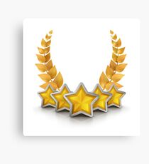 five star emblem for exclusivity and ultimate luxury Canvas Print