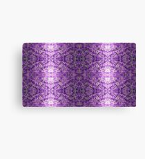 Knitted Purple Pattern Canvas Print