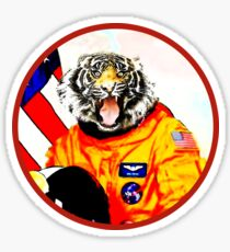 Astronaut Tiger Sticker