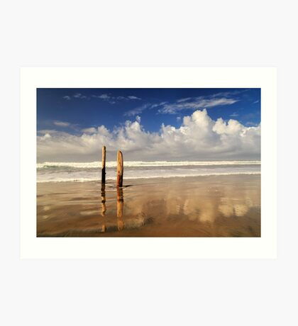Posts On The Shore Art Print