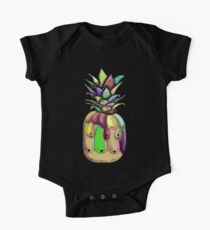 Abstract Decorative Pineapple One Piece - Short Sleeve