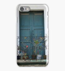 Blue Wood Door and Balcony iPhone Case/Skin