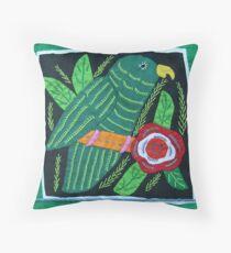 San Blas Mola embroidery 2012 Throw Pillow