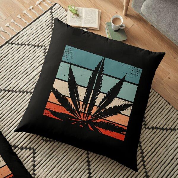 Retro Cannabis Floor Pillow