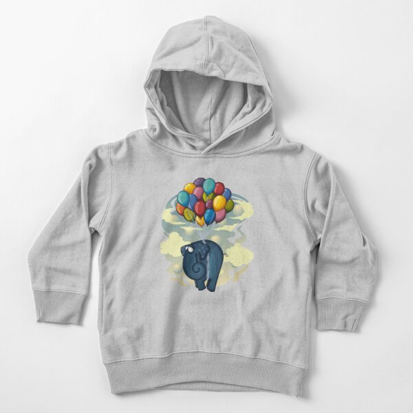 Flying Elephant Toddler Pullover Hoodie