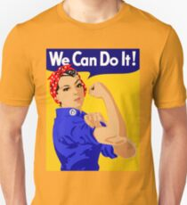 """Rosie The Riveter - """"We Can Do It!"""" Poster .  Unisex T-Shirt"""