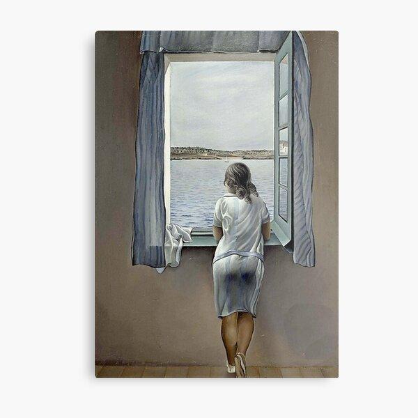 WOMAN IN THE WINDOW  Vintage 1925 Dali Metal Print