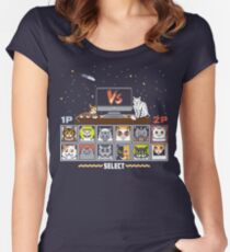 Internet Cat Fight Women's Fitted Scoop T-Shirt