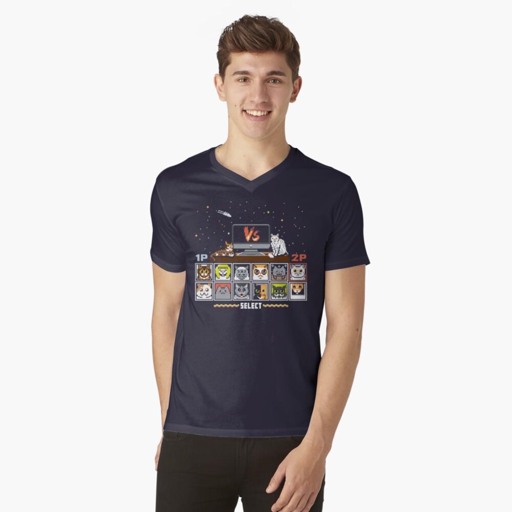 Internet Cat Fight V-Neck T-Shirt