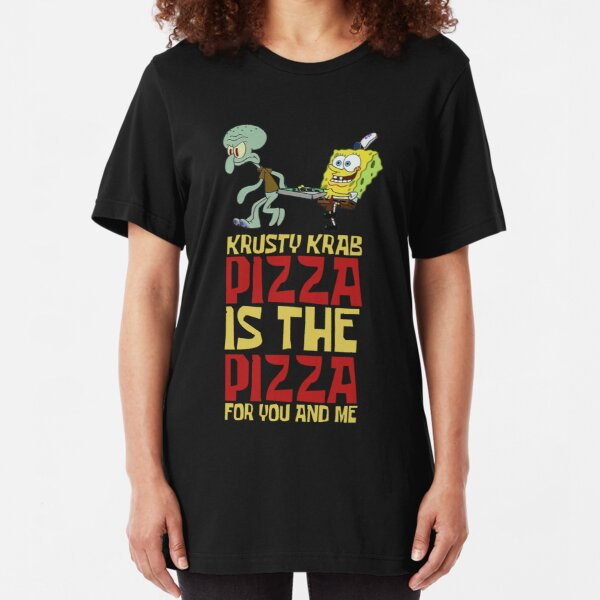 Krusty Krab Pizza - Spongebob Slim Fit T-Shirt