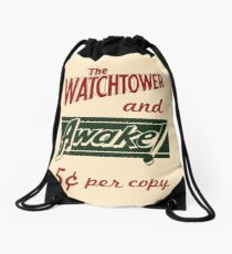 Watchtower Awake Canvas Messenger Bag Vintage Drawstring Bag