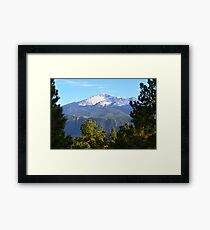 Pikes Peak in the Distance Framed Print