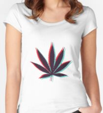 Marijuana Leaf 4 Women's Fitted Scoop T-Shirt