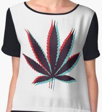 Marijuana Leaf 4 Chiffon Top